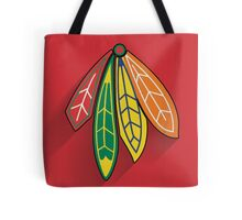 Chicago Blackhawks Minimalist Print Tote Bag