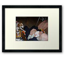 pops & baby Framed Print