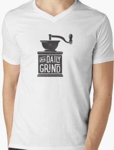 THE DAILY GRIND Mens V-Neck T-Shirt