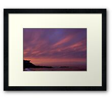 House on the shore- Cambria Framed Print