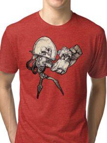 T-BAGS : Boxing Bones (Black and White) Tri-blend T-Shirt