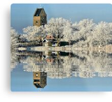 NATURES WINTER MIRROR # 2 Metal Print