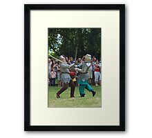 Knight's competition Framed Print