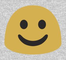 White Smiling Face Google Hangouts / Android Emoji Kids Clothes