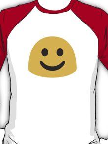 White Smiling Face Google Hangouts / Android Emoji T-Shirt