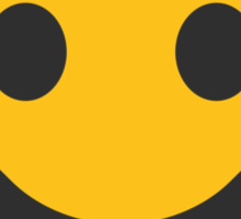 White Smiling Face Google Hangouts / Android Emoji Sticker