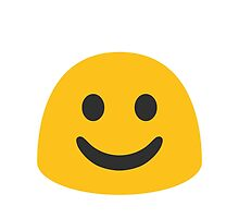 White Smiling Face Google Hangouts / Android Emoji by emoji