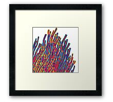 ribbons attack Framed Print