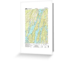 Maine USGS Historical Map Westport 103106 2000 24000 Greeting Card