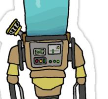 Monkey  Robot Experiment Sticker