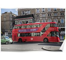 Red London Bus Poster