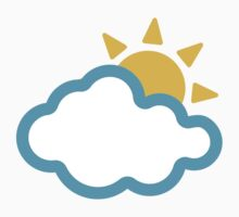 Sun Behind Cloud Google Hangouts / Android Emoji Kids Clothes