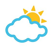 Sun Behind Cloud Google Hangouts / Android Emoji by emoji