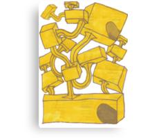 Yellow 3D Blocks by Seth Cummins Canvas Print
