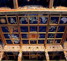 Ceiling of Shakespeare's Globe Theatre, London by Colin Leal
