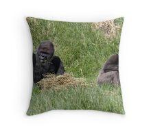 Bobby and Mjukuu Throw Pillow