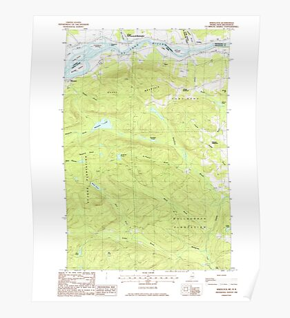 Maine USGS Historical Map Wheelock 103107 1985 24000 Poster
