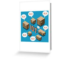 Isometric Internet of Things Concept Greeting Card