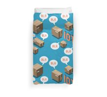 Isometric Internet of Things Concept Duvet Cover