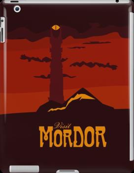 Mordor vintage travel poster by Nana Leonti