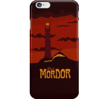 Mordor vintage travel poster iPhone Case/Skin