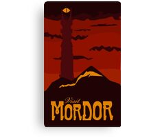 Mordor vintage travel poster Canvas Print