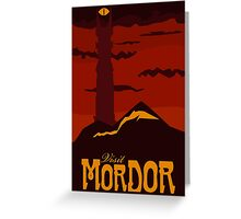 Mordor vintage travel poster Greeting Card