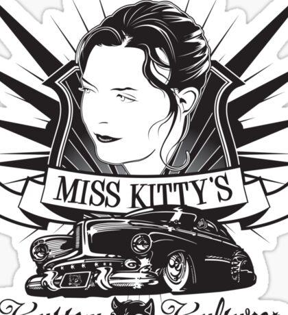 Miss Kitty Kustom T-Shirt Sticker