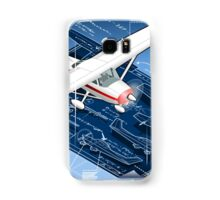 Isometric Infographic Airplane Blue Print Samsung Galaxy Case/Skin