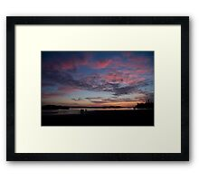 Sunset in Tofino Framed Print