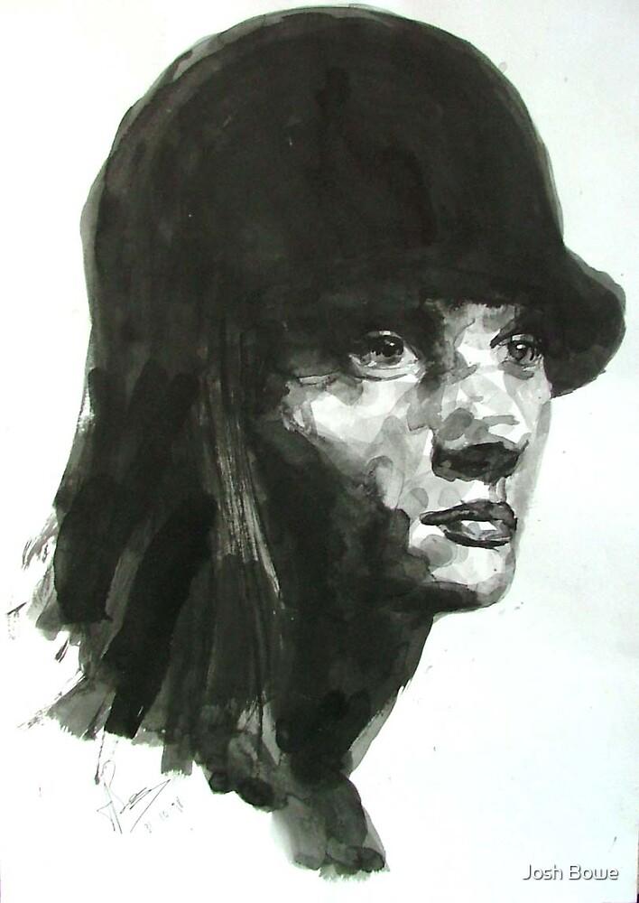 Black and white Portrait by Josh Bowe