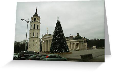 Vilnius preparing for Christmas by Antanas