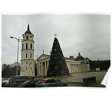 Vilnius preparing for Christmas Poster