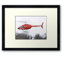 electricity helicopter Framed Print