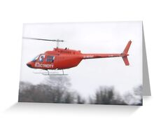 electricity helicopter Greeting Card
