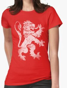 Heraldic Lion Womens Fitted T-Shirt