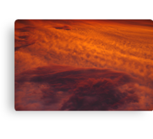 Cloudy Sunset Canvas Print