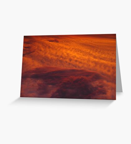 Cloudy Sunset Greeting Card