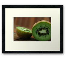 Sliced Kiwi Framed Print