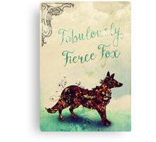 Fabulously Fierce Fox Canvas Print