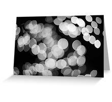 Bokeh Love Monochrome Greeting Card