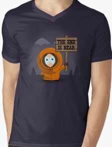 The End Is Near Mens V-Neck T-Shirt