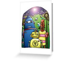 While androids watched their electric sheep by night Greeting Card