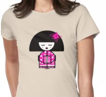 Magenta Chinese Womens Fitted T-Shirt