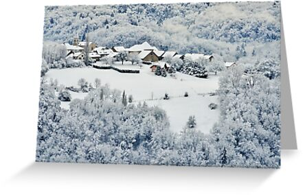 Snow around Musièges village by Patrick Morand