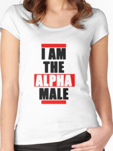 I Am The Alpha Male Women's Fitted Scoop T-Shirt