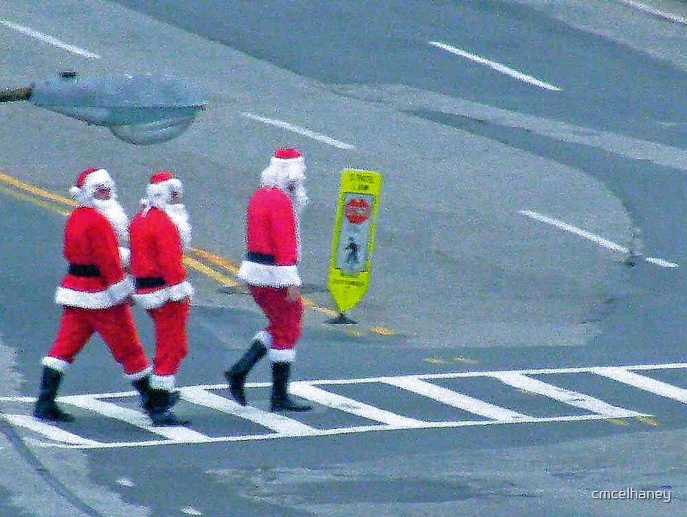 Santa crosswalk by cmcelhaney