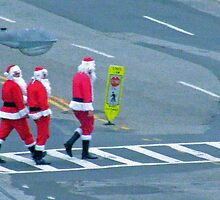 Santa crosswalk by cmcelhaney