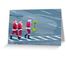Santa crosswalk Greeting Card