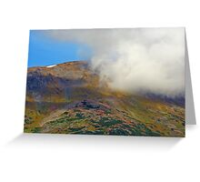 Cloud and Mountain Greeting Card